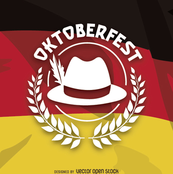 Oktoberfest logo over German flag - Free vector #303171