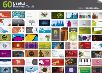 60 Usefull Business Cards Mega Pack - Free vector #303201