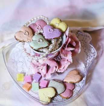 pastel heart cookie - image gratuit #303261