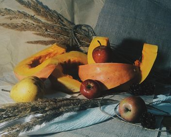 Pumpkin pieces with pear and apples - image #303361 gratis