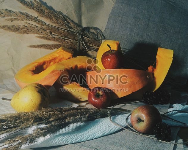 Pumpkin pieces with pear and apples - Free image #303361