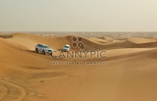 Driving on jeeps on the desert - Kostenloses image #303371