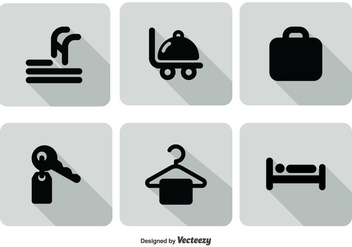 Hotel Service Icon Set - vector gratuit #303421