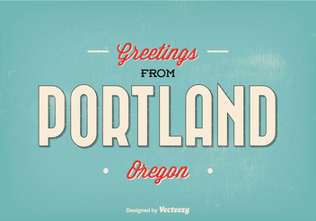 Portland Oregon Greeting Illustration - бесплатный vector #303441