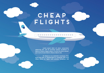 Free Web Travel Vector Background With Airplane - vector gratuit #303461