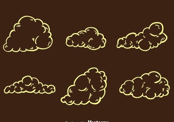 Dust Cloud Cartoon Effect Vectors - Kostenloses vector #303531