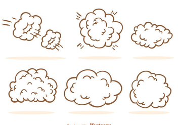Dust Cloud Cartoon - бесплатный vector #303541