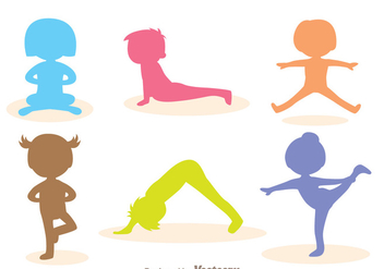 Vector Children Gymnast Silhouette - vector gratuit #303551