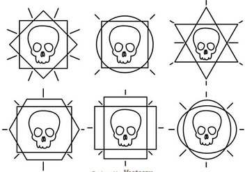 Skull Outline Vector Icons - vector #303571 gratis