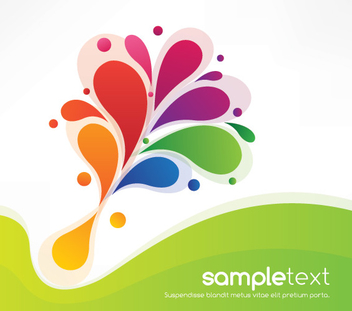 Colorful Swirls Green Waves Background - Kostenloses vector #303721