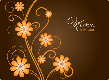 Floral Restaurant Menu Cover - vector #303731 gratis