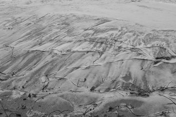 Beach sand in grey scale - бесплатный image #303751