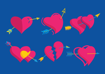 Arrow Through Heart Vector - Kostenloses vector #303851