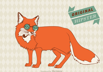 Free Hipster Fox Vector Background - Free vector #303881
