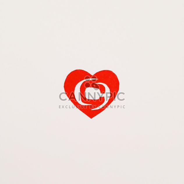 paper heart with clashot logo - Kostenloses image #304111