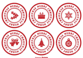 Christmas Rubber Stamp Set - vector #304211 gratis