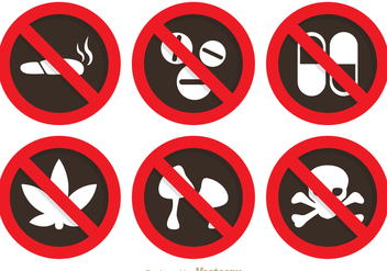 No Drugs Sign - Kostenloses vector #304241