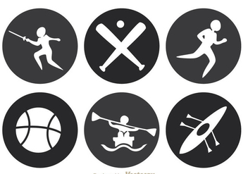 Sport Circle Icons - Kostenloses vector #304371