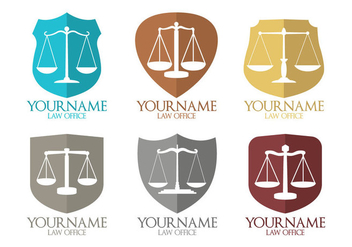 Law Office Logo Vectors - бесплатный vector #304401