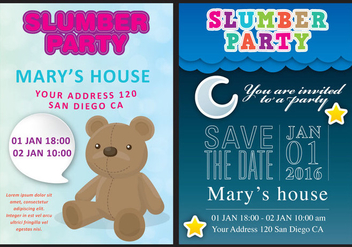 Slumber Party Card Vectors - Free vector #304411