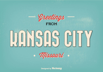 Kansas City Missouri Greeting Illustration - бесплатный vector #304421