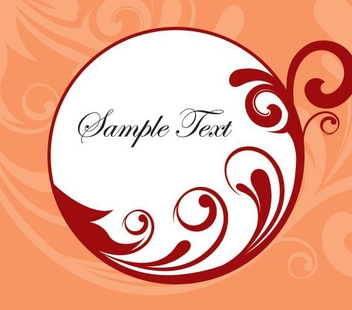 White Circle Banner Swirls Decoration - Free vector #304821
