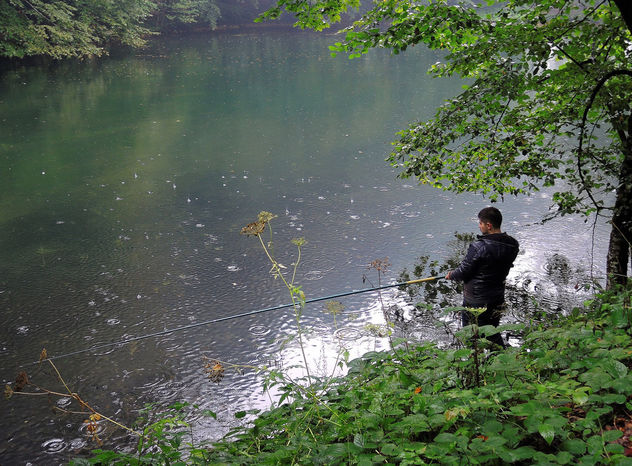 Turkey (Bolu-Seven Lake National Park) Fishing under rain - Free image #304831