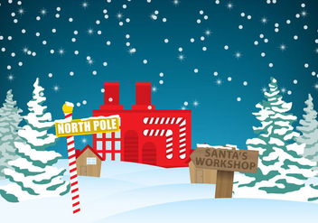 Santas Workshop Vector - Kostenloses vector #304911
