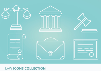 Law Vector Icons - Kostenloses vector #304981