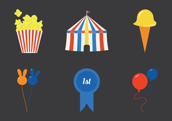 Free County Fair Vector Illustration set - Free vector #304991