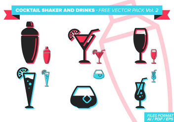 Cocktail Shaker And Drinks Free Vector Pack Vol. 2 - vector #305041 gratis