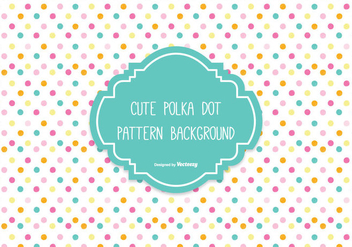 Colorful Polka Dot Background - vector #305051 gratis