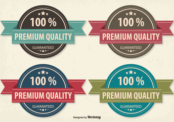 Retro Style Premium Quality Badge Set - vector #305061 gratis