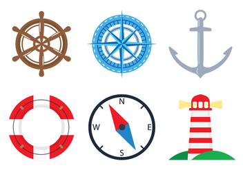 Nautical Icons - vector #305071 gratis