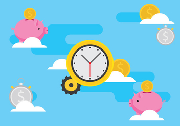 Time Is Money Illustration - vector #305111 gratis