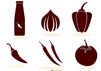 Hot Sauce Icons - vector #305121 gratis