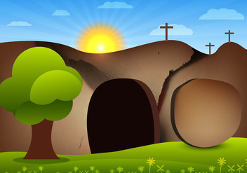 Empty tomb vector - бесплатный vector #305131