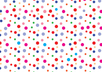 Polka dot pattern vector - бесплатный vector #305151