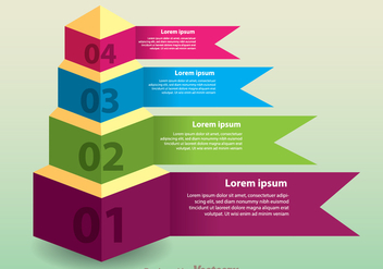 Layered Pyramid Chart Vector - бесплатный vector #305201