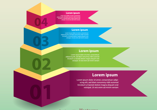 Layered Pyramid Chart Vector - Free vector #305201