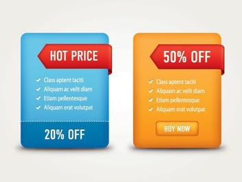 Glossy Sale Label Web Boxes - vector #305291 gratis