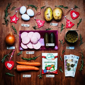 Ingredients for Russian traditional New year salad - image gratuit #305401