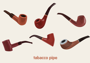 Tabacco pipe vectors - бесплатный vector #305411