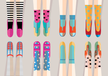 Fun Shoes Vectors - бесплатный vector #305421