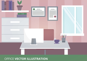 Office Vector Illustration - vector gratuit #305461