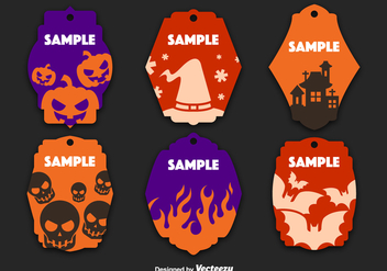 Halloween decorated tags - Free vector #305511