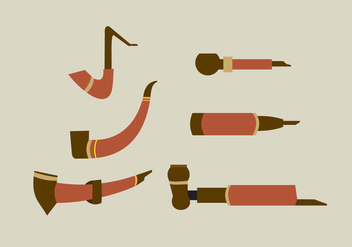 Classic Tobacco Pipes - vector gratuit #305521
