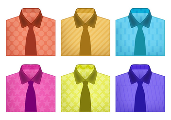 Folded shirt vectors - vector gratuit #305591