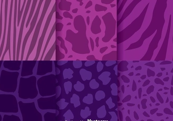 Abstract Animal Purple Background - vector gratuit #305611