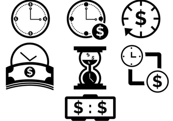 Time Is Money Icons - vector gratuit #305781